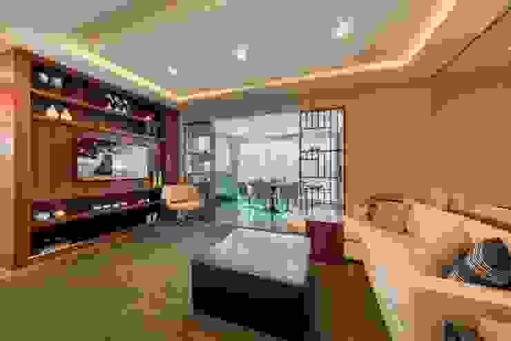Larissa Lieders Arquitetura + Interiores Modern Living Room Wood Wood effect