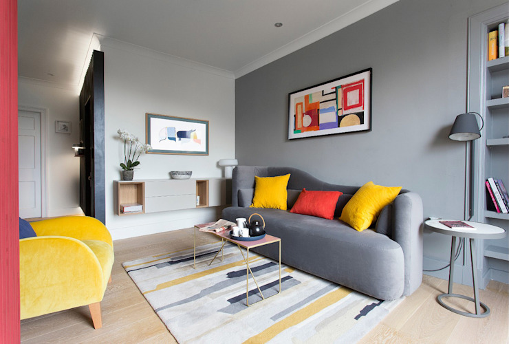 Living room John Wilson Design Modern living room Grey