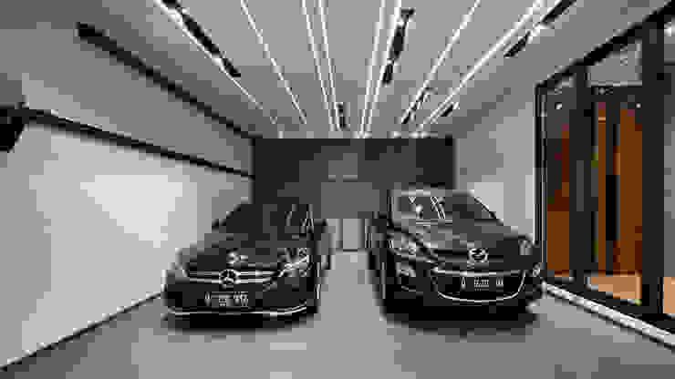 Garasi Dua Mobil Oleh Rakta Studio Asia