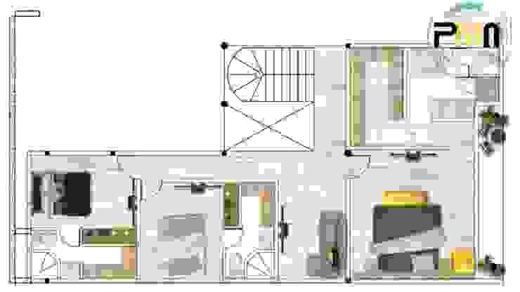 Proyectos y Maquinaria Del Norte SA de CV Camera da letto moderna