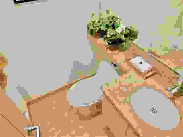 Baño Social Baños de estilo moderno de AlejandroBroker Moderno