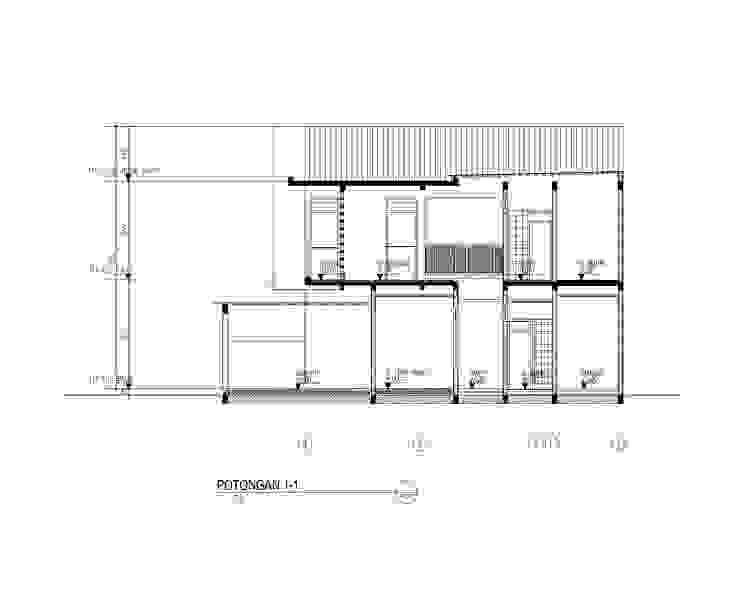 potongn bangunan:modern  oleh 3.se studio, Modern