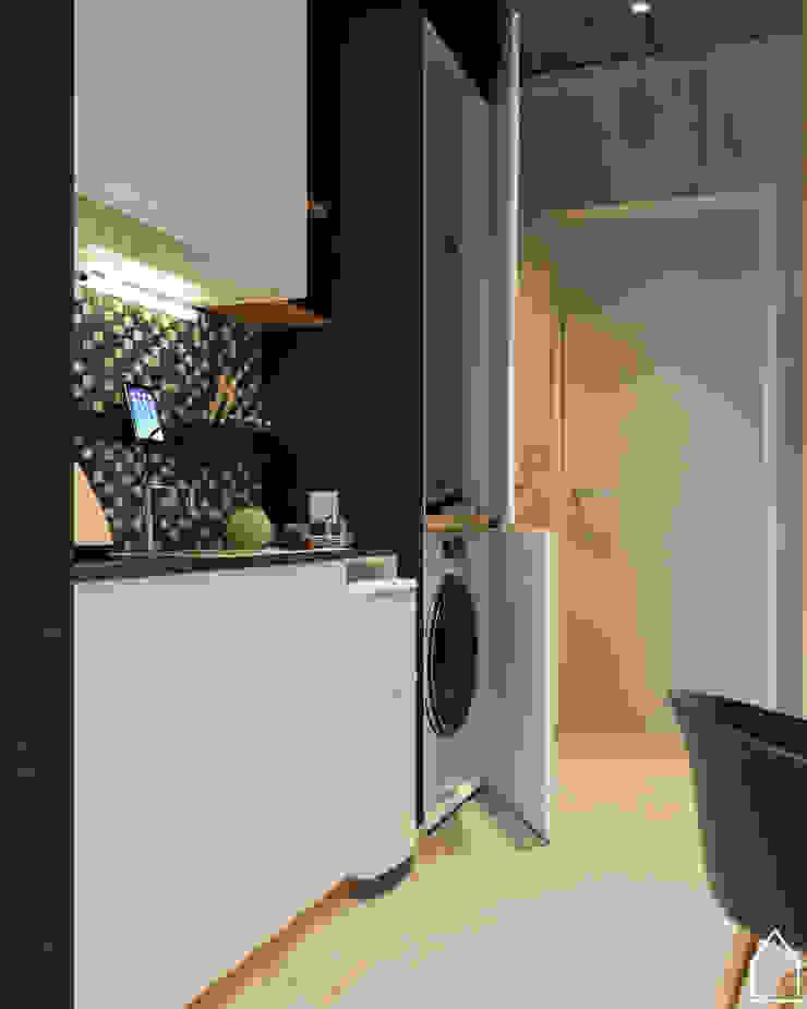 apartement type studio Hotel Gaya Industrial Oleh abdulrahman_studio Industrial Beton