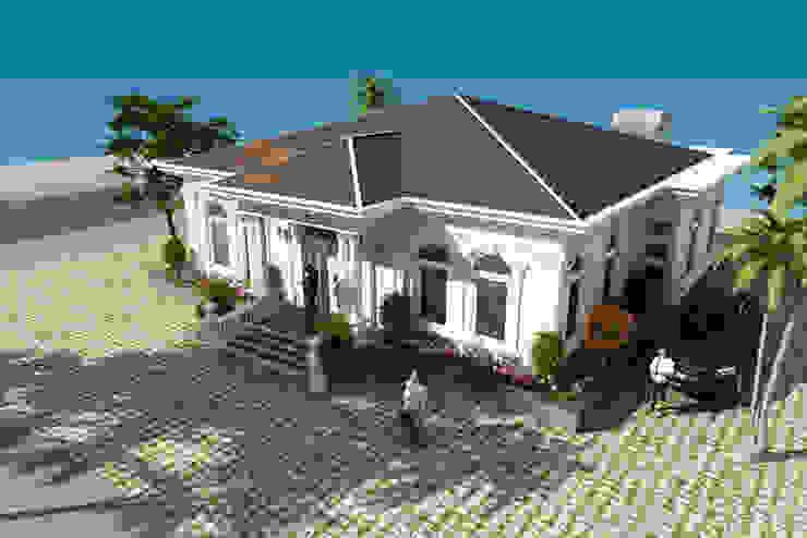 Thiết kế biệt thự vườn 1 tầng tân cổ điển mái thái – Nam Định – BT 97 bởi CÔNG TY CỔ PHẦN XD&TM KIẾN TẠO VIỆT Châu Á