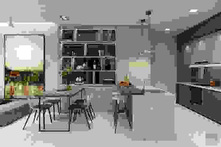 THIẾT KẾ HIỆN ĐẠI TRONG CĂN HỘ VINHOMES CENTRAL PARK Nhà bếp phong cách hiện đại bởi ICON INTERIOR Hiện đại