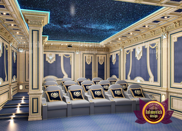 Enormous Home Cinema Design by Luxury Antonovich Design