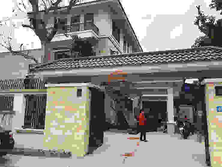 Ảnh thực tế căn biệt thự nhà anh Việt ở Thái Nguyên: hiện đại  by Nội thất Hpro, Hiện đại