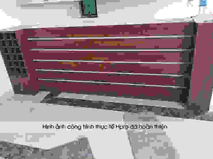 Ảnh thực tế bàn đảo laminate nhà anh Mạnh ở Bắc Giang: hiện đại  by Nội thất Hpro, Hiện đại