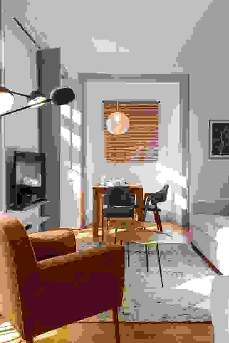OpenSpace - Zona de sala por Traço Magenta - Design de Interiores Moderno