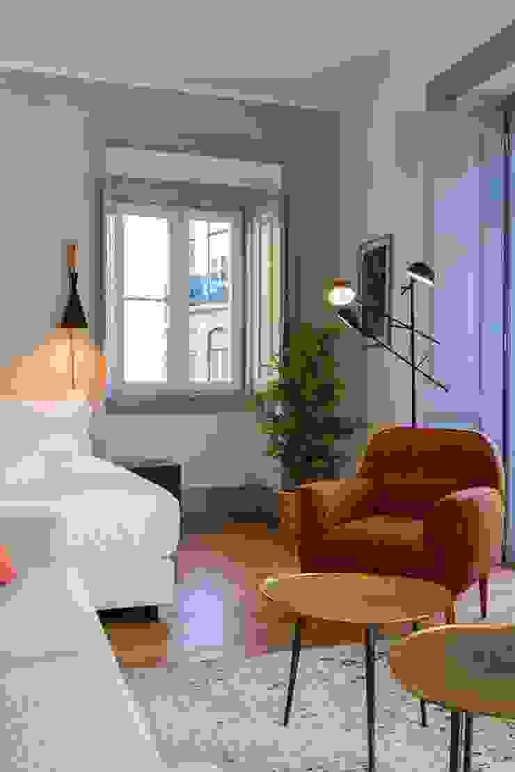 OpenSpace - vista para o quarto por Traço Magenta - Design de Interiores Moderno