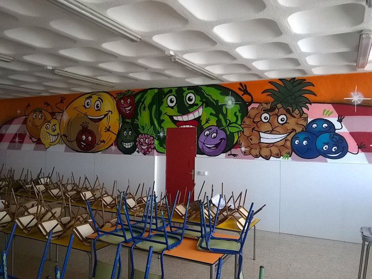 dmg-graffitis Ruang Makan Modern