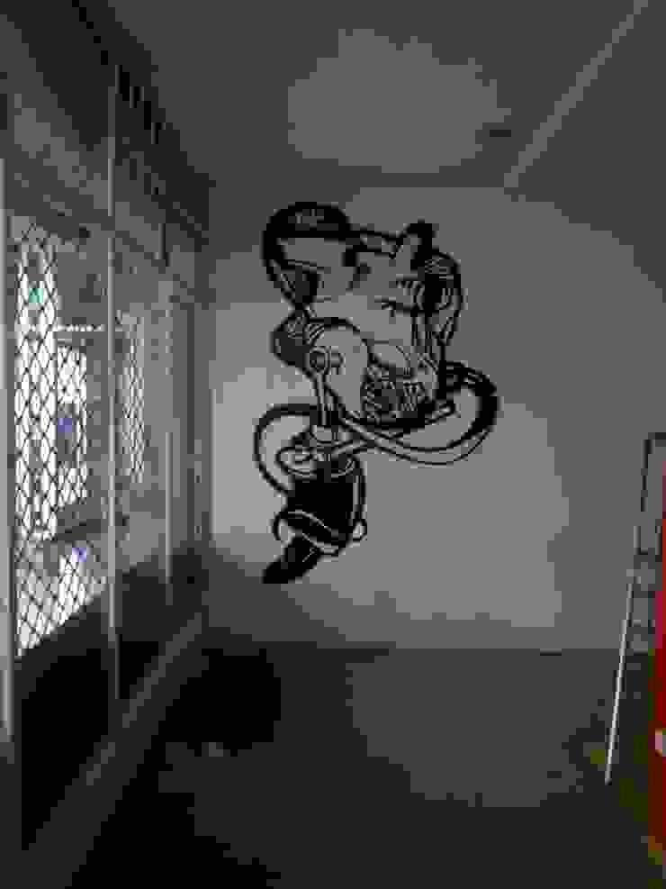 dmg-graffitis Ruang Studi/Kantor Modern