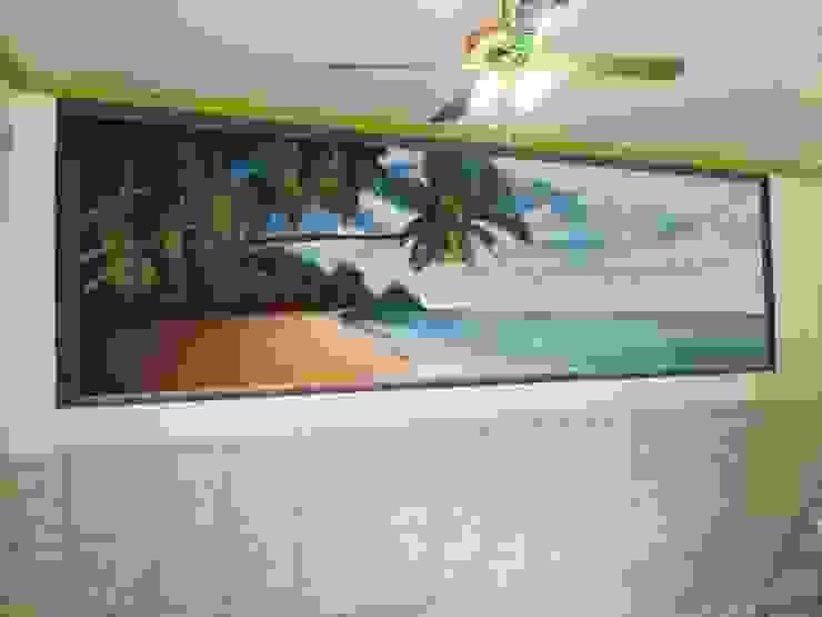 dmg-graffitis Dinding & Lantai Tropis