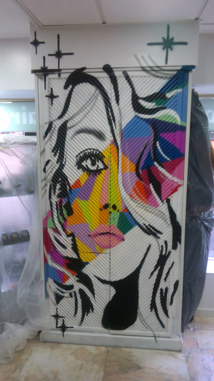 dmg-graffitis Ruang Ganti Modern