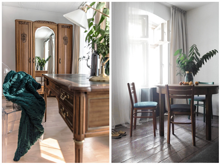 Pracownia Zew Eclectic style study/office
