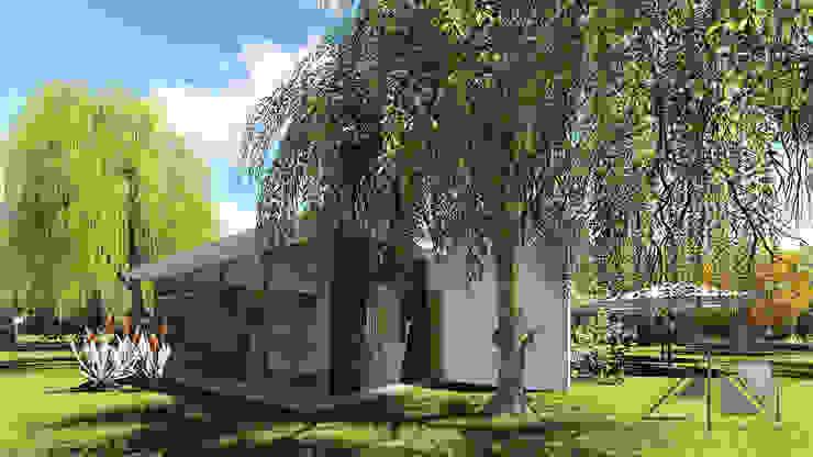 Vista exterior habitaciones - jardines. de ARQUITECTOnico