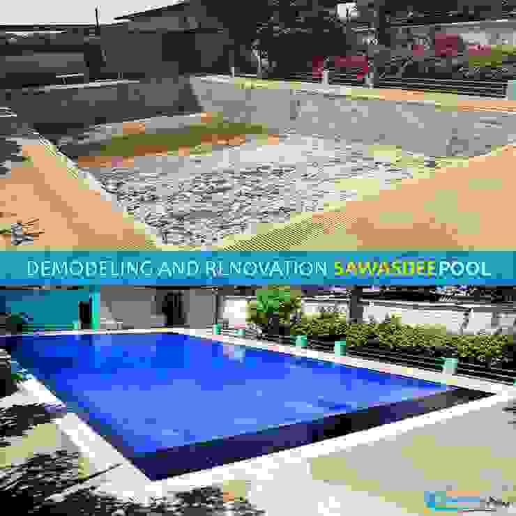 รีโนเวทสระว่ายน้ำ ซ่อมเเซมสระว่ายน้ำ โดย บริษัท ทูบรอซ จำกัด