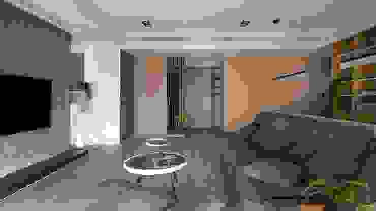 溫潤質感 極簡室內設計 Simple Design Studio 现代客厅設計點子、靈感 & 圖片