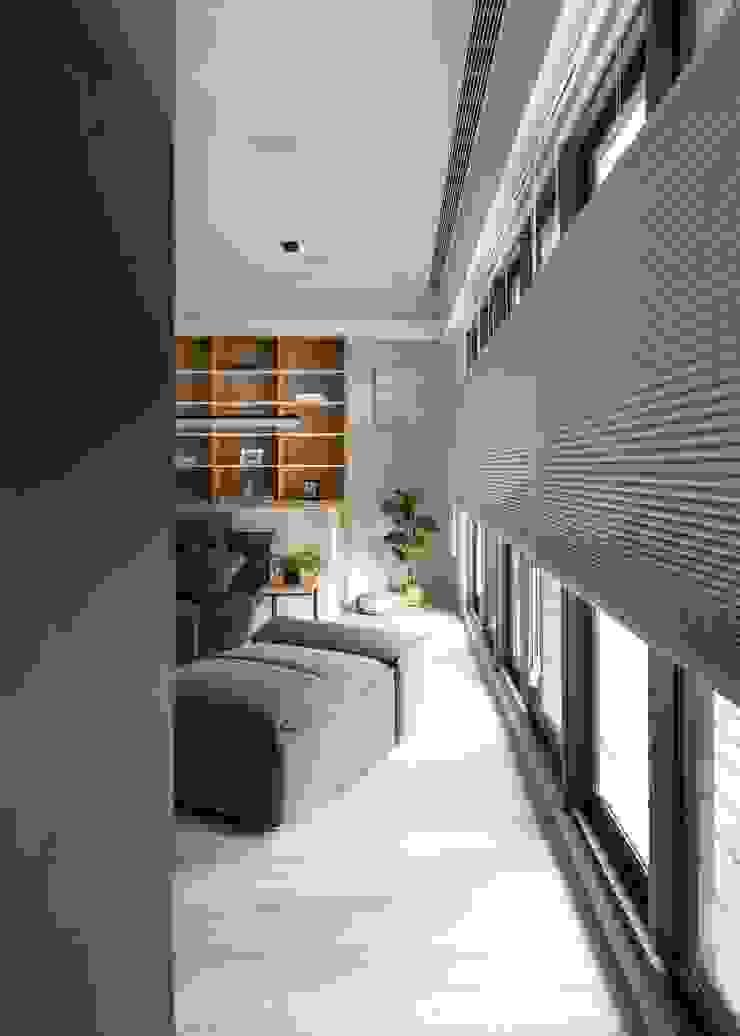 落地窗 極簡室內設計 Simple Design Studio 書房/辦公室