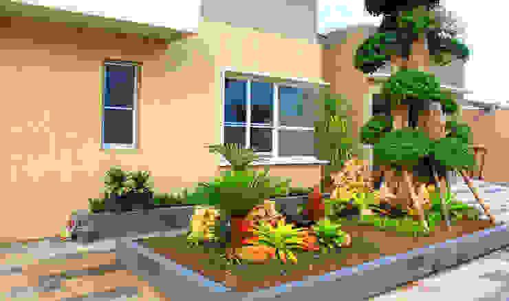 Tukang Taman Surabaya - flamboyanasri Jardines en la fachada