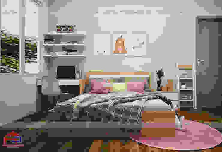 Thiết kế nội thất phòng ngủ cho bé gái nhà chị Hương ở Việt Trì: hiện đại  by Nội thất Hpro, Hiện đại