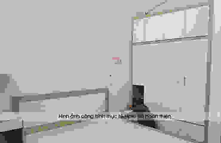 Ảnh thực tế thi công nội thất phòng ngủ bé trai gỗ laminate nhà chị Hương ở Việt Trì: hiện đại  by Nội thất Hpro, Hiện đại