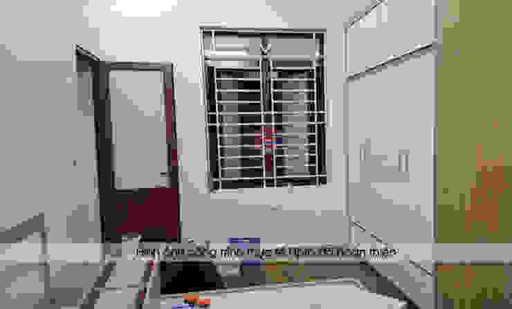 Hoàn thiện lắp đặt nội thất phòng ngủ bé gái gỗ laminate nhà chị Hương ở Việt Trì: hiện đại  by Nội thất Hpro, Hiện đại