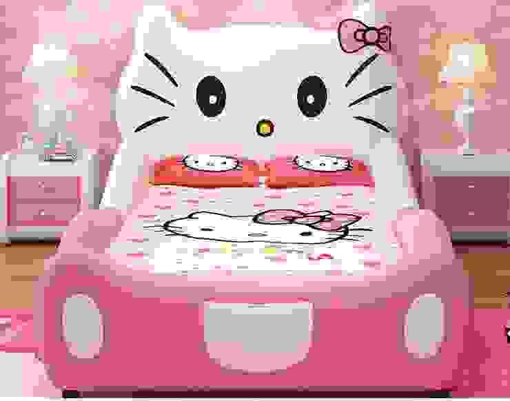 7 Mẫu giường hello kitty dành cho bé gái dễ thương: Châu Á  by Xưởng nội thất Thanh Hải, Châu Á