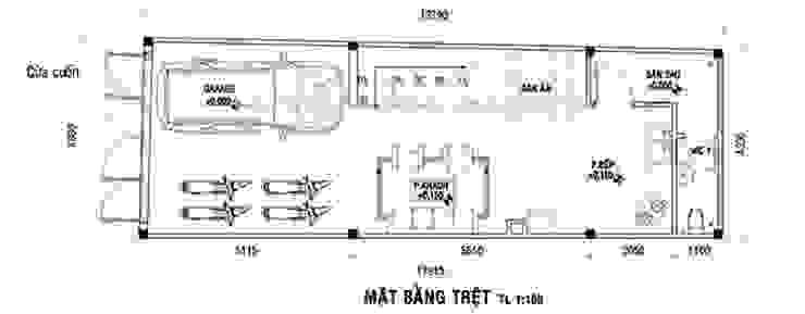 Thiết kế nhà phố 3 tầng bởi Công ty cổ phần tư vấn kiến trúc xây dựng Nam Long Hiện đại