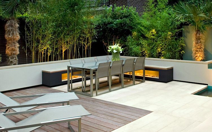 Modern garden seating MyLandscapes Garden Design 庭院