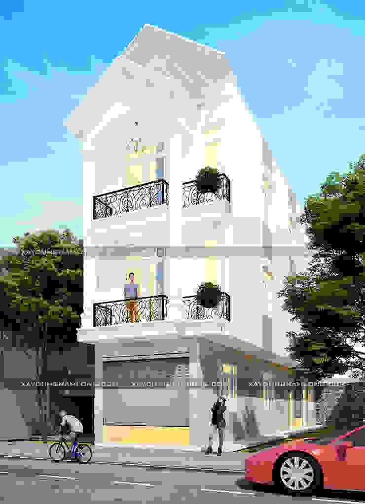 Nhà ống 3 tầng tân cổ điển bởi Thiết kế nhà đẹp ở Hồ Chí Minh Hiện đại