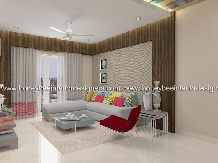 Living Room Honeybee Interior Designers Modern living room