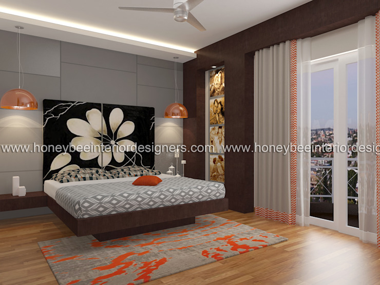 Master Bedroom Honeybee Interior Designers Modern style bedroom
