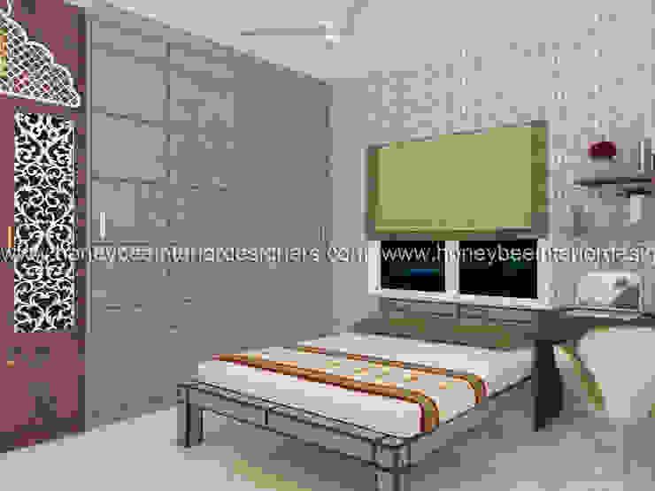 Guest Room Honeybee Interior Designers Eclectic style bedroom
