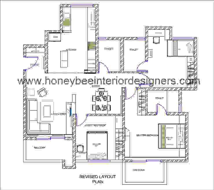 Layout by Honeybee Interior Designers Honeybee Interior Designers
