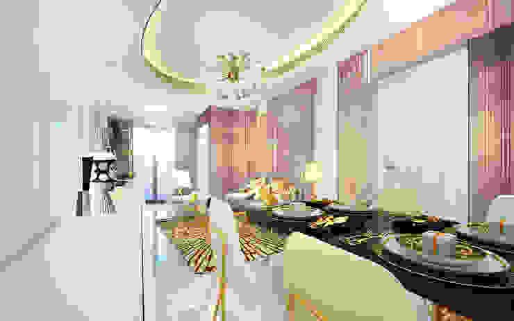 客廳及飯廳 根據 Joppa Architecture and Interior Design Co., Ltd