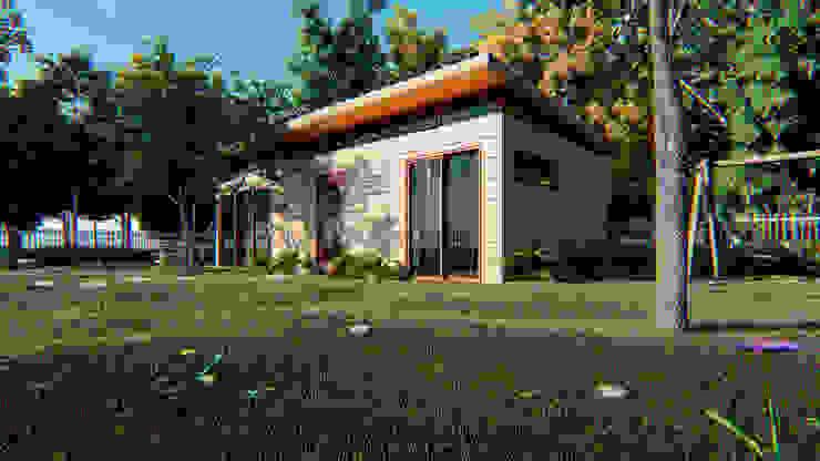 Casa Moderna de AMB arquitectura + visualización
