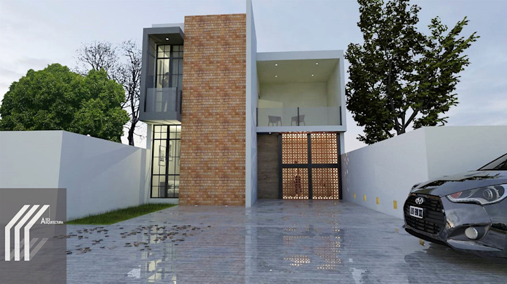ARDI ARQUITECTURA Single family home Bricks Grey