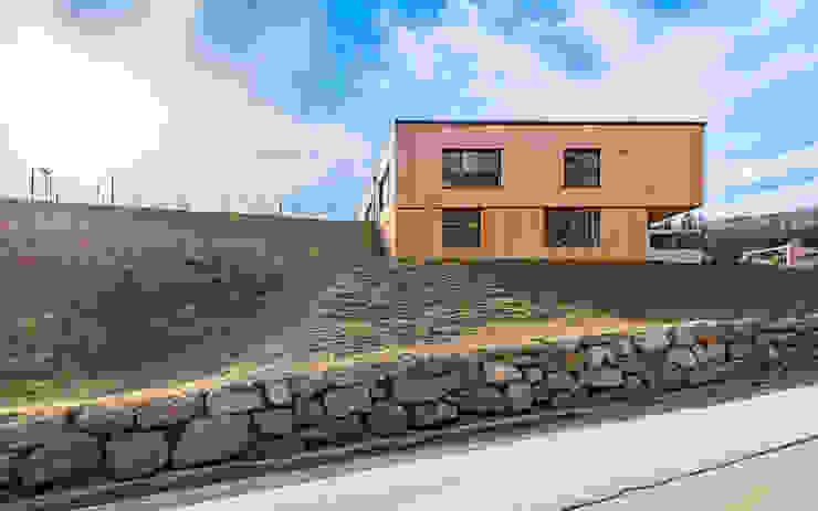 Nordostfassade Moderne Schulen von archipur Architekten aus Wien Modern Holz Holznachbildung