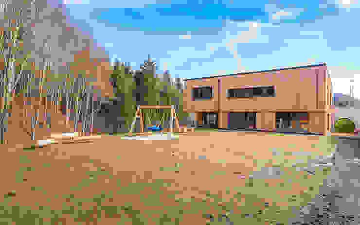 Südwestfassade Moderne Schulen von archipur Architekten aus Wien Modern Holz Holznachbildung