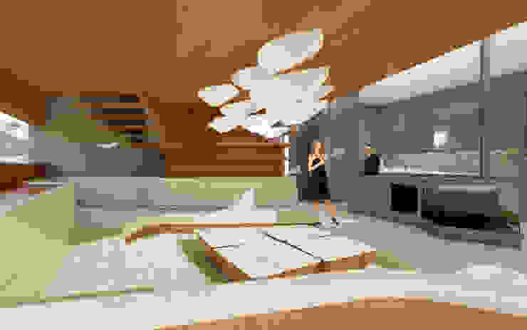 Leuchtschiffe archipur Architekten aus Wien WohnzimmerBeleuchtung Naturfaser Weiß