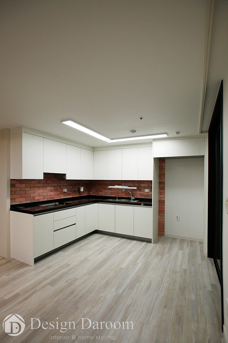 광장동 신동아 파밀리에 32py 주방 모던스타일 주방 by Design Daroom 디자인다룸 모던