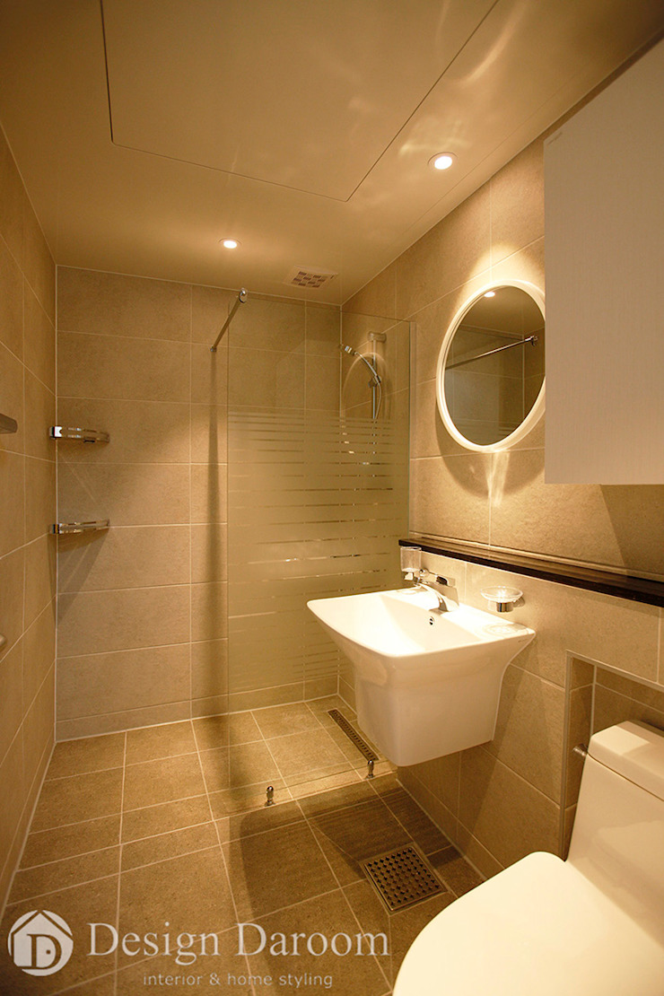 광장동 신동아 파밀리에 32py 안방 욕실 모던스타일 욕실 by Design Daroom 디자인다룸 모던