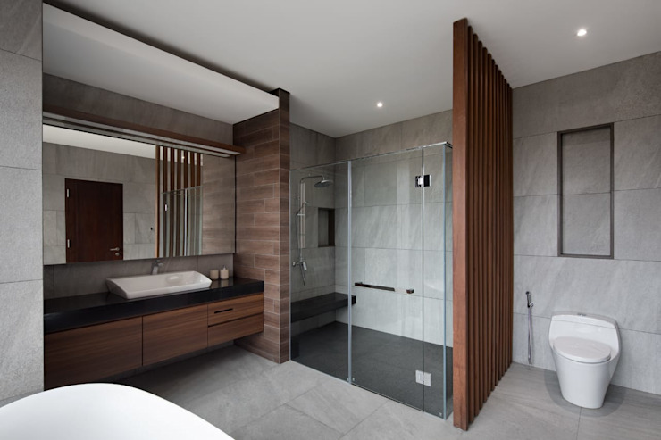 Gio House Setraduta Kamar Mandi Modern Oleh CV Berkat Estetika Modern Batu