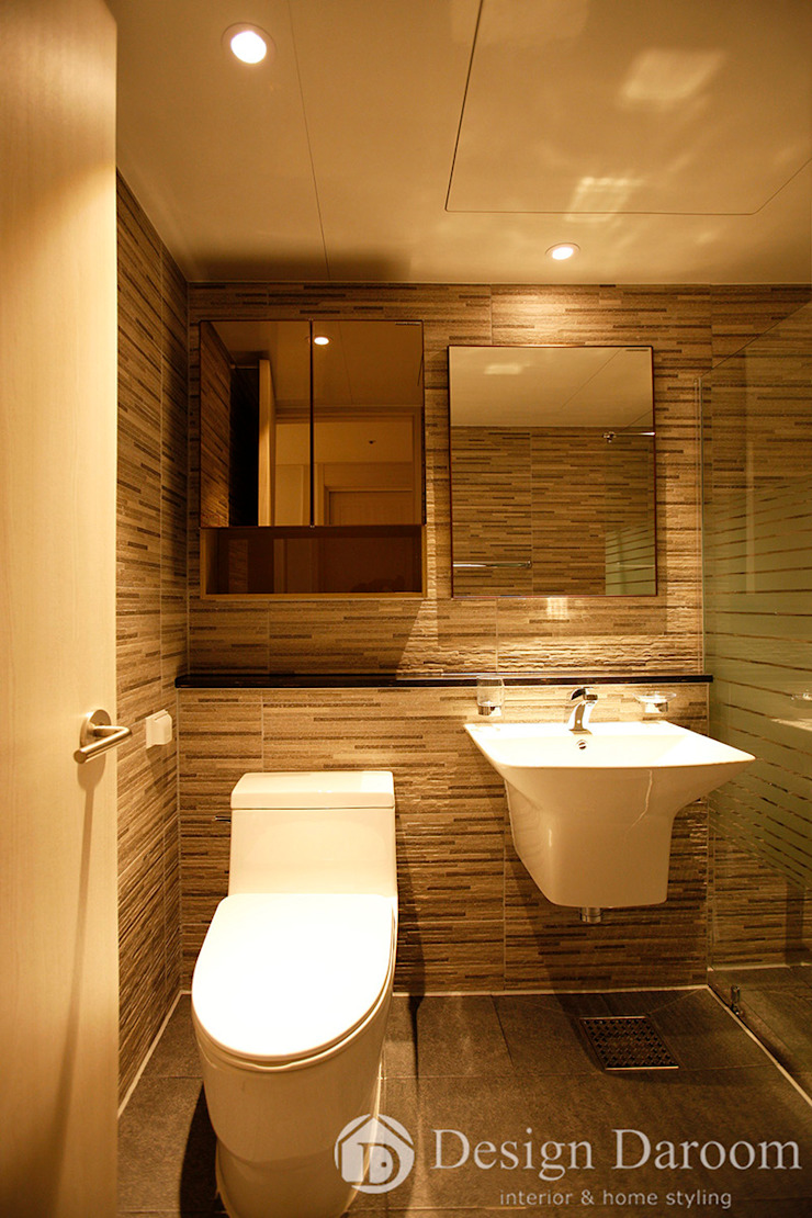 광장동 신동아 파밀리에 32py 거실 욕실 모던스타일 욕실 by Design Daroom 디자인다룸 모던