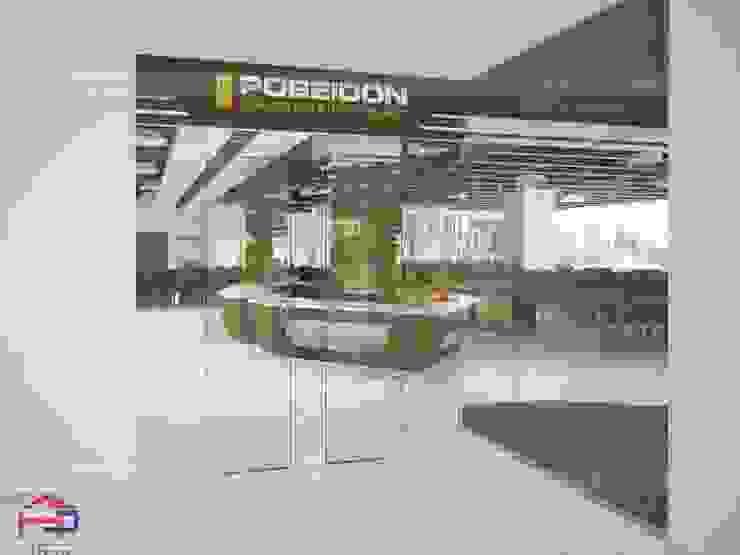 Ảnh 3D thiết kế cửa phụ nhà hàng Buffet Poseidon- 85 Lê Văn Lương: hiện đại  by Nội thất Hpro, Hiện đại