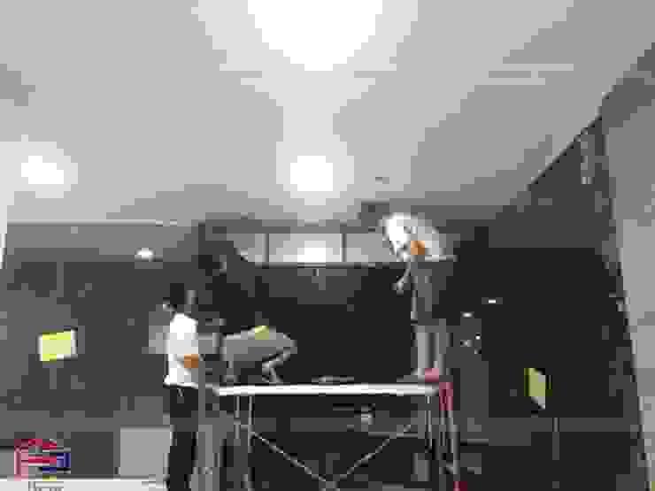Thi công nội thất gỗ laminate tại nhà hàng Buffet Poseidon- 85 Lê Văn Lương: hiện đại  by Nội thất Hpro, Hiện đại