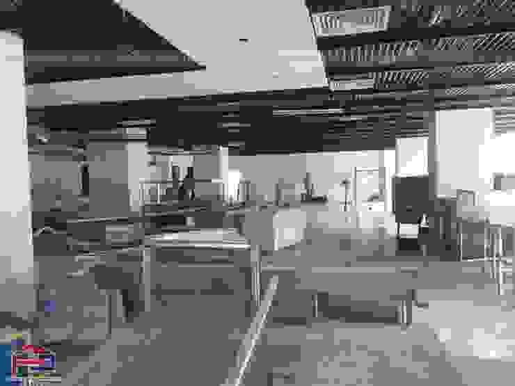 Hpro thi công lắp đặt nội thất gỗ laminate tại nhà hàng Buffet Poseidon- 85 Lê Văn Lương: hiện đại  by Nội thất Hpro, Hiện đại
