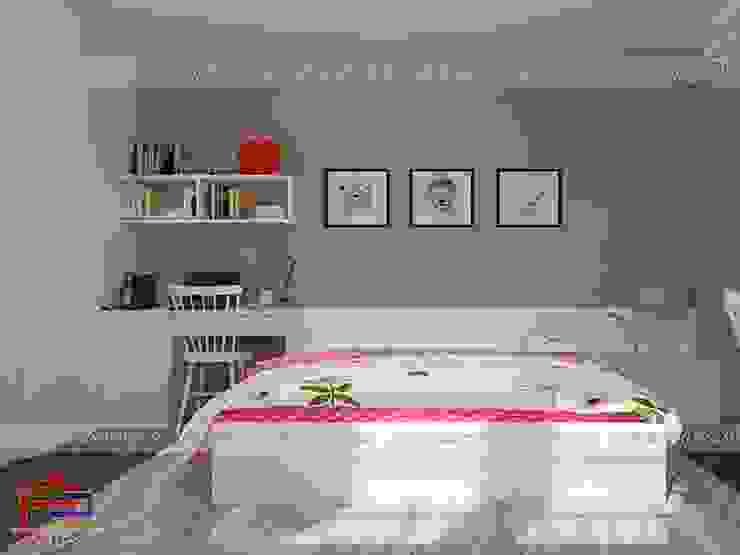 Ảnh 3D thiết kế nội thất phòng ngủ cho bé nhà anh Thảo ở Ngoại Giao Đoàn bởi Nội thất Hpro