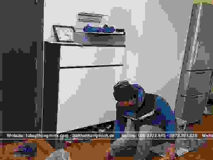 Ảnh thực tế tủ giày melamine nhà anh Thảo ở Ngoại Giao Đoàn bởi Nội thất Hpro